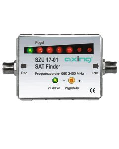AXING SZU 17-01 SAT signal tester LED chain with acoustic level signal