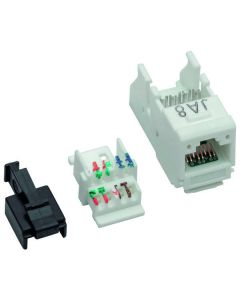 ABN BP115 ABN-RJ45 Adapter or Patch Cable f.3pkt -Square Cat.6A module 90 degrees, socket